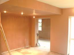 Walls plastered